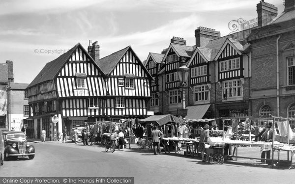 Photo of Evesham, Market Square And Booth Hall c.1955