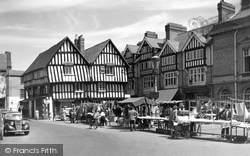 Market Square And Booth Hall c.1955, Evesham
