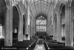 Evesham, St Lawrence's Church Interior 1901