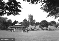 The Bandstand, Abbey Park c.1955, Evesham