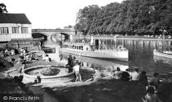 The River Avon c.1955, Evesham
