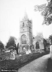 The Three Spires And Churchyard 1892, Evesham
