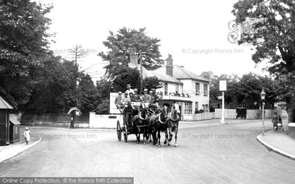 Photo of Ewell, The Spring Hotel and Coach 1924, ref. 75486