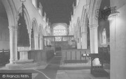 Church Interior c.1950, Ewelme