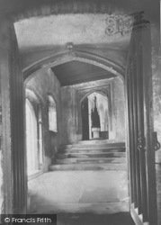 Entrance To The Church From The Almshouses c.1950, Ewelme
