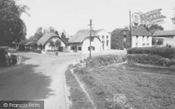 Kings Pool Cottages And Post Office c.1960, Ewelme