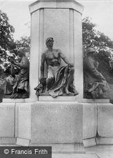 Exeter, Base of War Memorial, Figure of Prisoner of War 1924