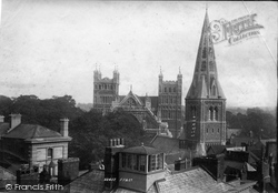 Exeter, Cathedral And Church Spire 1894