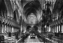 Exeter, Cathedral Choir East 1887