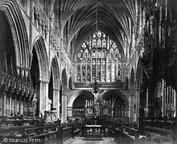 Exeter, Cathedral, Choir East c.1875