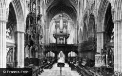 Exeter, Cathedral Choir, Looking West c.1900