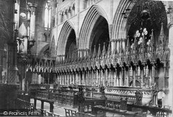 Exeter, Cathedral, Choir Stalls c.1875