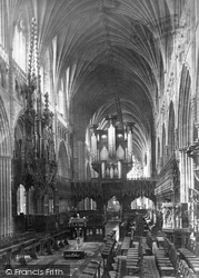 Exeter, Cathedral, Choir West c.1876