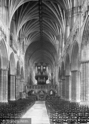 Exeter, Cathedral Nave East 1894
