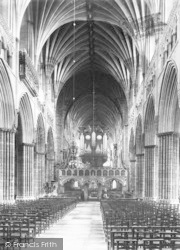 Exeter, Cathedral, Nave East c.1887