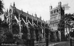 Exeter, Cathedral  North East Front c.1875