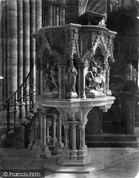 Exeter, Cathedral, Paterson Pulpit c.1876