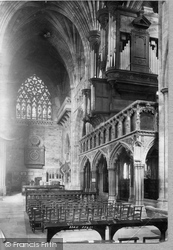 Exeter, Cathedral Screen And Organ 1894