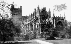 Exeter, Cathedral South East View 1887