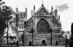 Cathedral, The West Front 1887, Exeter