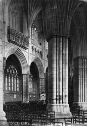 Exeter, Cathedral, View Across Nave c.1876