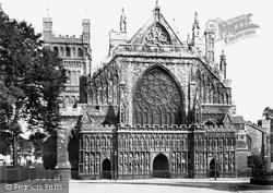 Exeter, Cathedral, West Front c.1862