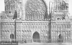 Exeter, Cathedral, West Front c.1875