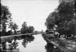 Exeter, On The Canal 1896