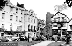 Royal Clarence Hotel And Mol's Coffee House c.1950, Exeter