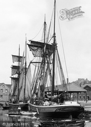 Exeter, Ship In The Port 1896