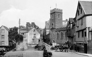 Exeter, St Mary Steps Church and Westgate 1929