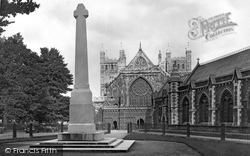 Exeter, The Cathedral And Devon County Memorial 1924