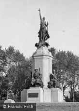 Exeter, the War Memorial, Rougemont Gardens c1955