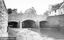 Exford, River Exe And Bridge c.1960