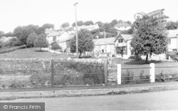 Exford, The Recreation Ground And Village c.1955