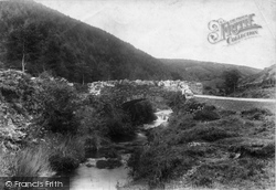 Oare Ford Near Robbers Bridge 1907, Exmoor
