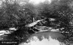 Exmoor, Tarr Steps, The Oldest Roman Bridge In England 1929