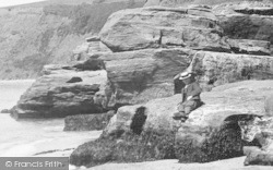 Exmouth, A Man At Orcombe Point 1906