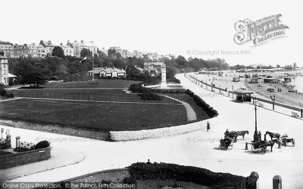 Exmouth, Beach from Moreton Crescent c1898