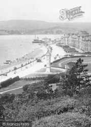 Exmouth, Esplanade, From The Beacon 1898