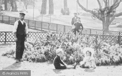 Exmouth, Esplanade Gardens, People 1906