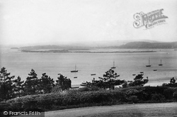 Exmouth, From Beacon Hotel 1896