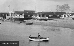 Exmouth, Man Rowing Boat Standing Up 1918