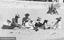 Exmouth, People On The Beach 1898