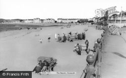 Exmouth, The Beach c.1965