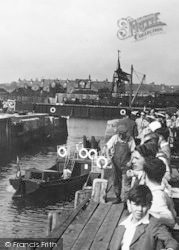 Exmouth, The Harbour Entrance c.1955