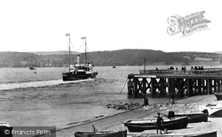 Exmouth, The Pier And 'duchess Of Devonshire' 1896