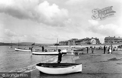 Exmouth, The Sands And Boats 1925
