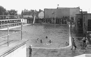 Exmouth, the Swimming Baths c1955