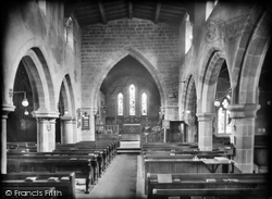 Church Interior 1919, Eyam